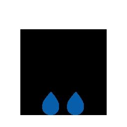 Durchgehend starker Regen
